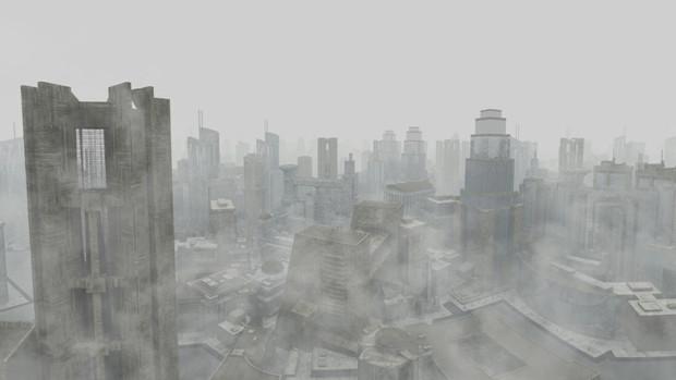 【MMDステージ配布】霧の未来都市 U3【スカイドーム】