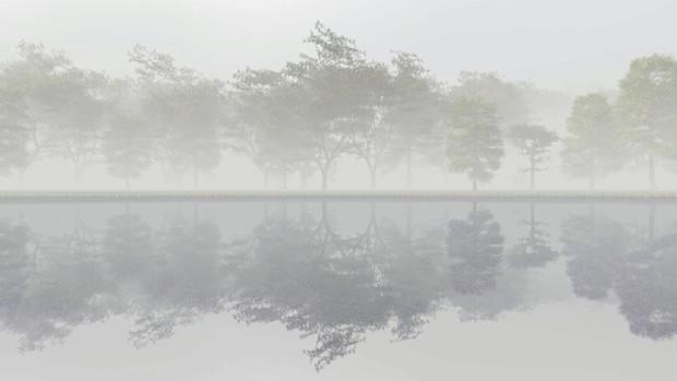 【MMDステージ配布】霧の森 V1【スカイドーム】