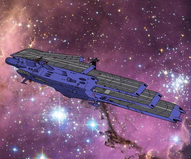 大ガミラス帝国軍 ガイペロン級多層式航宙母艦『ランベア』