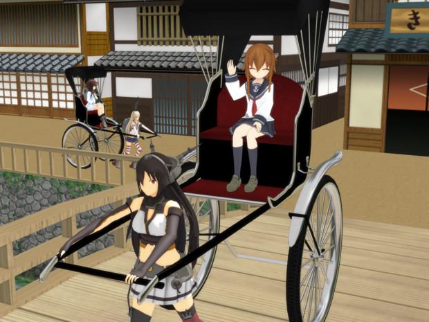 3月24日は人力車発祥の日なのです Nikusoba さんのイラスト