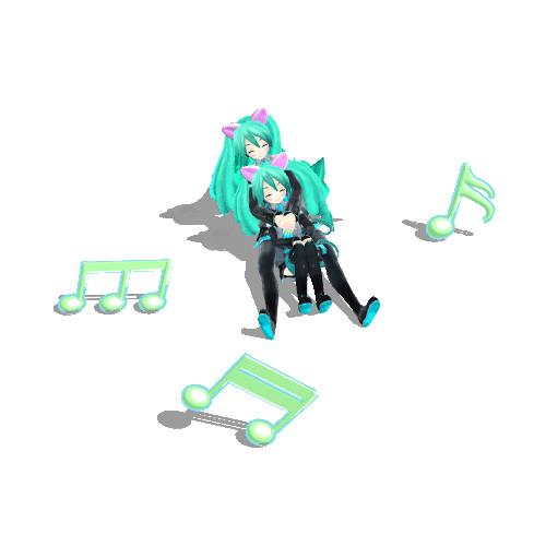 【GIFアニメ】Neko Sisters fun