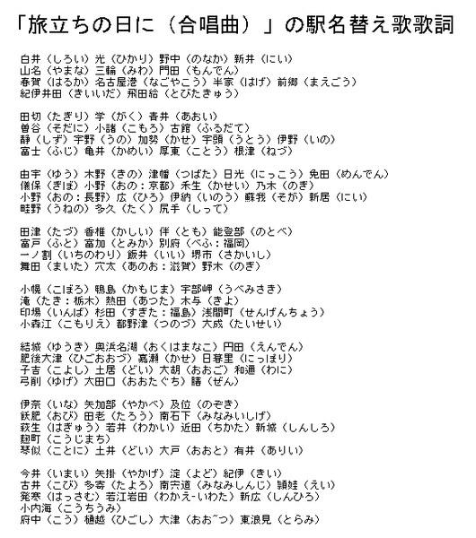 旅立ち の 日 に 歌詞 合唱曲 旅立ちの日に 歌詞 - 歌詞検索J-Lyric.net