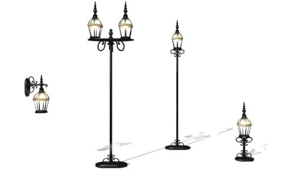 アンティーク照明4種