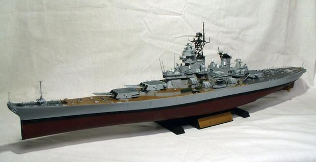 【艦船模型】米戦艦 ミズーリ1991年仕様 1/350【完成品】
