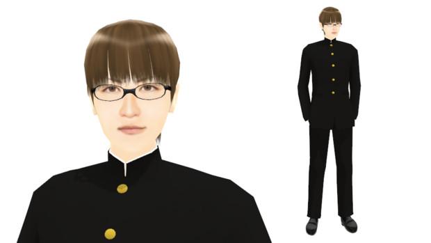【MMDモデル配布】こんなエキストラ用モデルを作ってみた:男子学生F介
