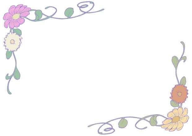 フリー素材花枠① Sora さんのイラスト ニコニコ静画 イラスト