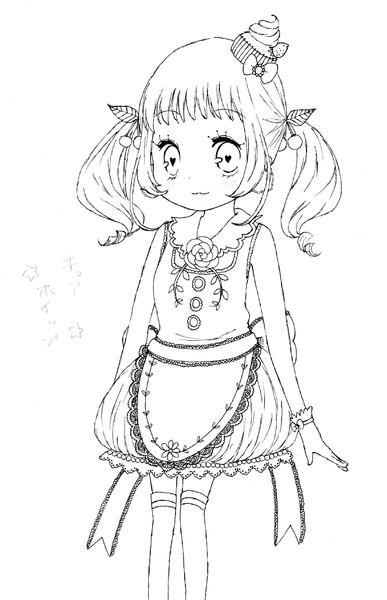 オリジナルプリキュアモノクロ もちこ姫 さんのイラスト