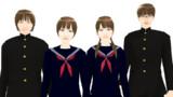 【MMDモデル配布】WEP式エキストラ(男女学生セット03)