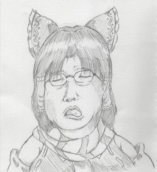 舌を出して誘惑する猫と化したBNKRGちゃん♡