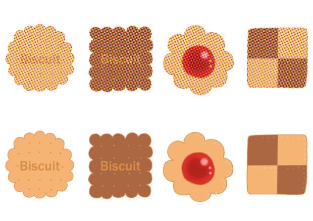 【フリー素材】クッキーとビスケット(ノーマル&新聞印刷)
