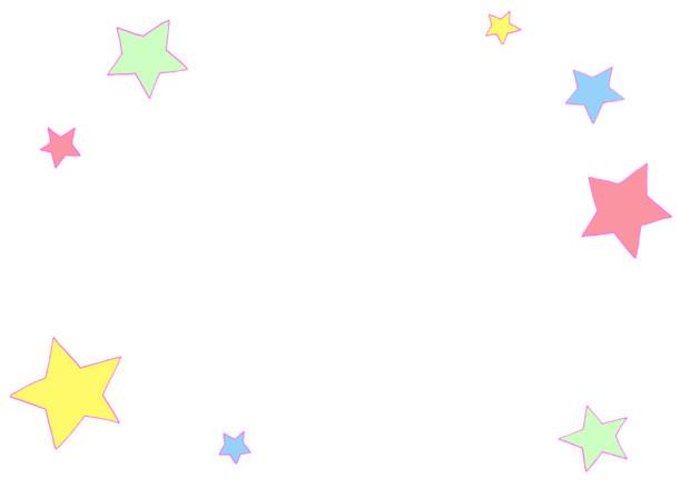 【フリー素材】星枠①