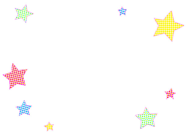 【フリー素材】星枠①(新聞印刷)