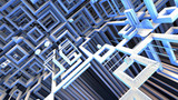 【MMDステージ配布】迷路空間 X9【AL対応スカイドーム】