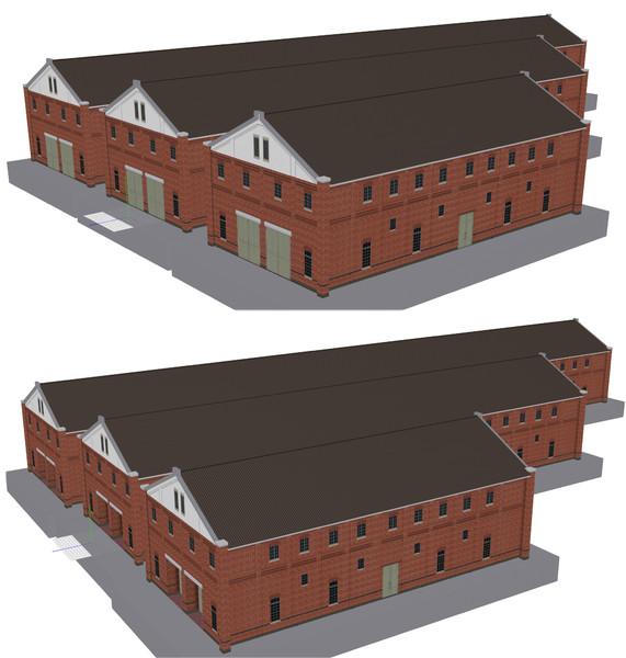 モブ煉瓦倉庫1配布します。