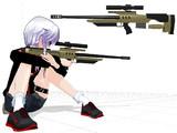 【MMD】ポーランド製狙撃ライフル Alex-338