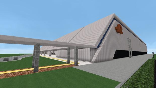 【Minecraft】リニア・鉄道館外観