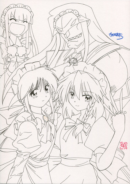 幻想郷メイド大戦~青の戦士たち~(線画)