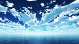 【MMDステージ配布】雲が多い青空 Z3【スカイドーム】