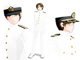 「陸!海!空!」大日本帝国海軍第二種軍装(モーフで海自第1種)モデル配布します