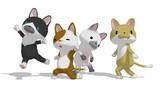 【MMD-OMF5】MMD用踊る猫【モデル配布】