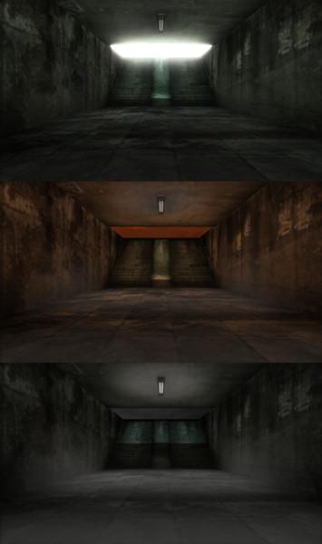 【MMD-OMF5】地下通路ステージ2