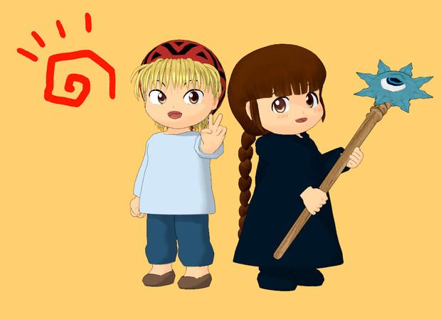 【MMD-OMF5】ニケとククリ
