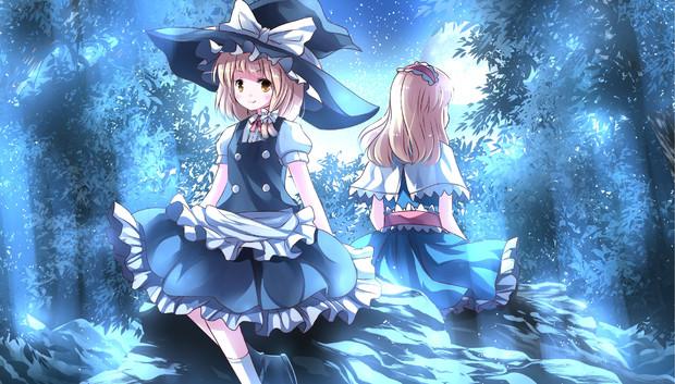 語る魔理沙とアリス