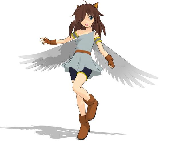 【MMD-OMF5】有翼鳥人猫娘