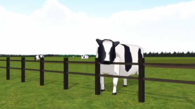 【MMD-OMF5】モブ牛