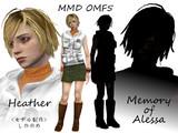 【MMD-OMF5】ヘザーとアレッサ【モデル配布】