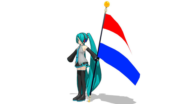 【MMD-OMF5】旗モデル配布【モデル配布】