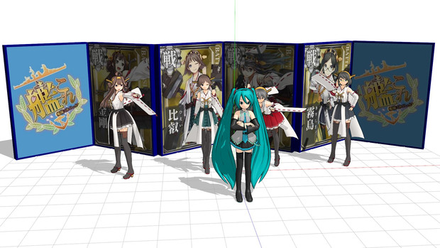 【MMDモデル配布】6枚屏風【屏風って元々何に使う物なんだろうね?】