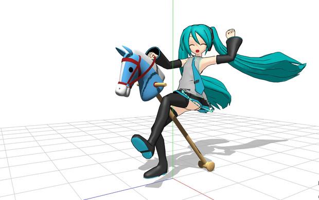 【MMDモデル配布】馬のおもちゃ【ハイヨー!シルバー!】
