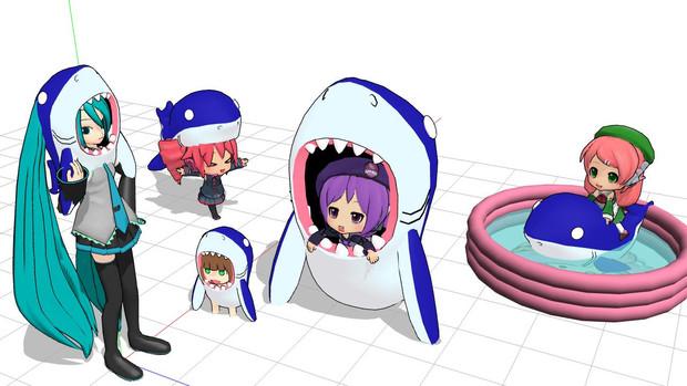 【MMD-OMF5】サメ