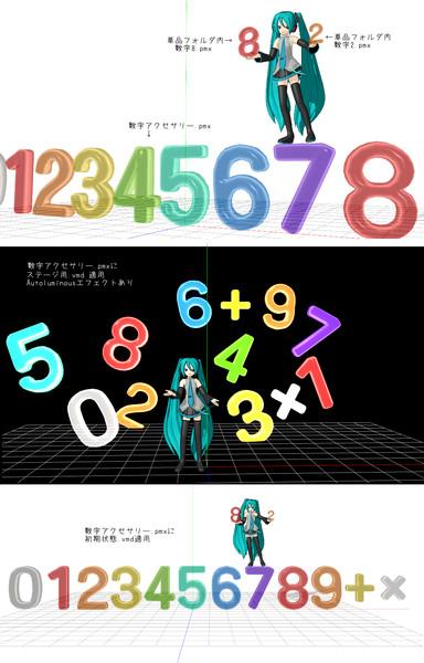 数字アクセサリー【MMDアクセサリー配布】