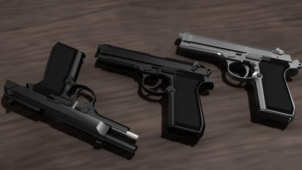 【MMD】Beretta Mod.92SB【モデル配布】