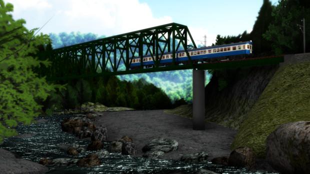 【MMD鉄道】鉄橋【配布】