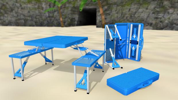 アルミピクニックテーブルでもいかがです?