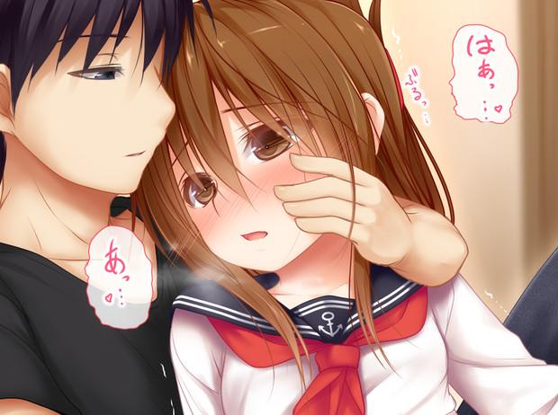 『電ちゃんとマジでキスする5秒前』 の絵