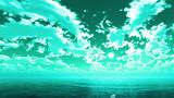 【MMDステージ配布】グリーンミントな空 AA8【スカイドーム】