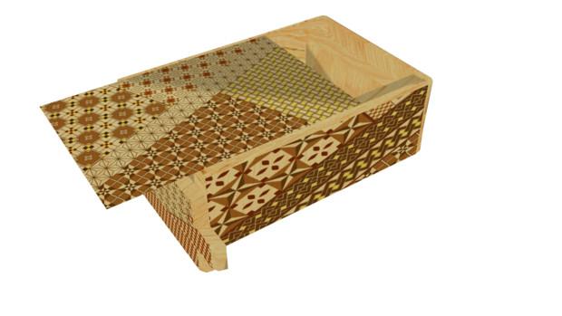 寄木細工風秘密箱