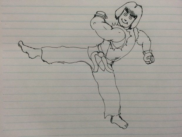 【ストリートファイター】ケンの前蹴り