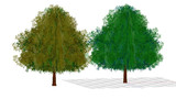 【配布終了・使用禁止】遠景用の木配布(ローポリ16頂点)