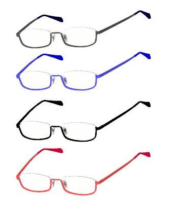 アンダーリム眼鏡