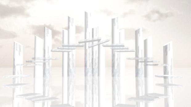 エデン動画につかった石柱ステージ