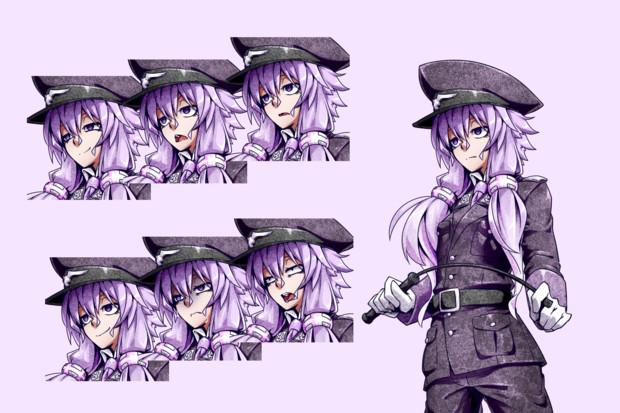 軍服ゆかりさん立ち絵描いた
