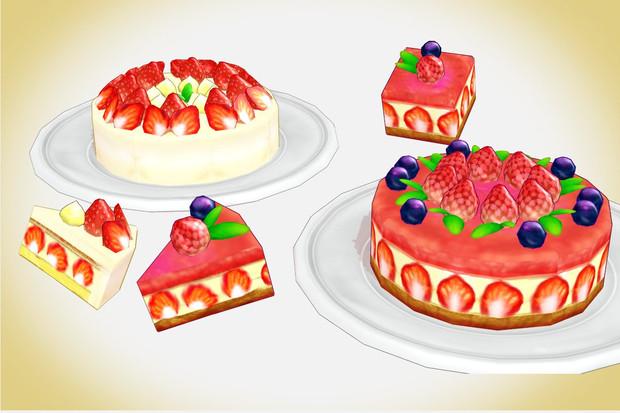 いちごのケーキセットver10 キャベツ鉢 さんのイラスト ニコニコ静