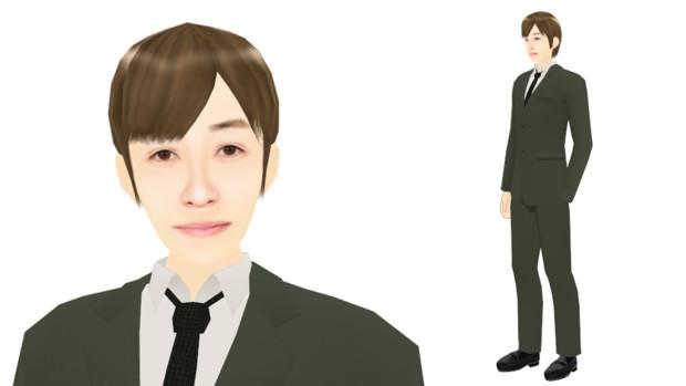 【MMDモデル配布】こんなエキストラ用モデルを作ってみた:男子社員J介