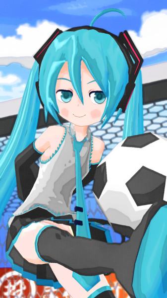 にぼミクさんとサッカーボール