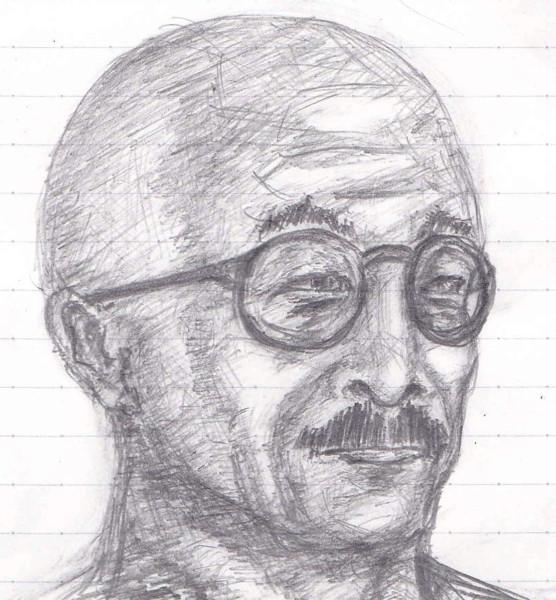 [父の日](戦時大日本帝国の)お父さん 鉛筆画 新局面